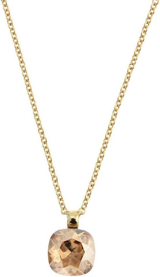 Lolaandgrace Kette mit Anhänger »GEM PENDANT, 5028128« mit Swarovski® Kristallen in goldfarben