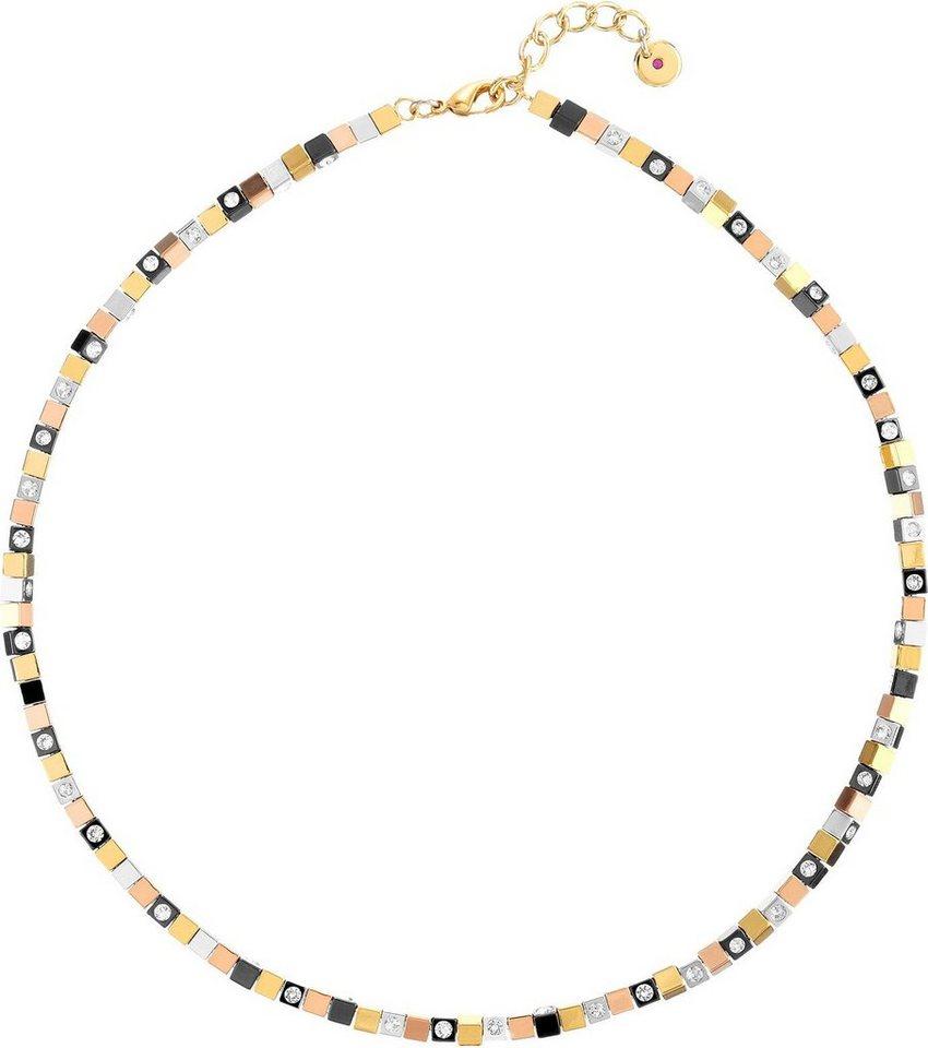 Lolaandgrace Collier »CUBE COLLIER, 5183026« mit Swarovski® Kristallen in silberfarben-roségoldfarben-goldfarben-schwarz