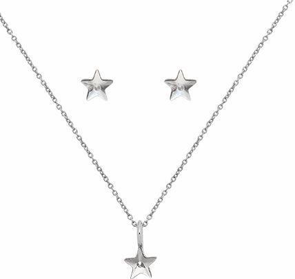 Lolaandgrace Schmuckset »SPARK STAR SET, 5217124« mit Swarovski® Kristallen in silberfarben