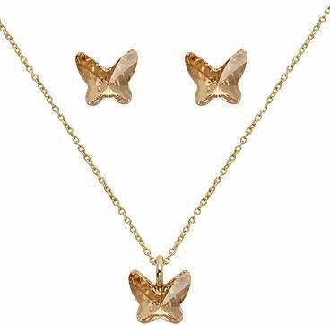 Lolaandgrace Schmuckset »SPARK BUTTERFLY SET, 5217120« mit Swarovski® Kristallen in goldfarben