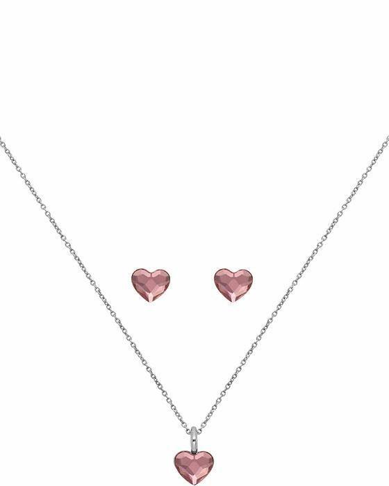 Lolaandgrace Schmuckset »SPARK HEART SET, 5217118«, mit Swarovski® Kristallen