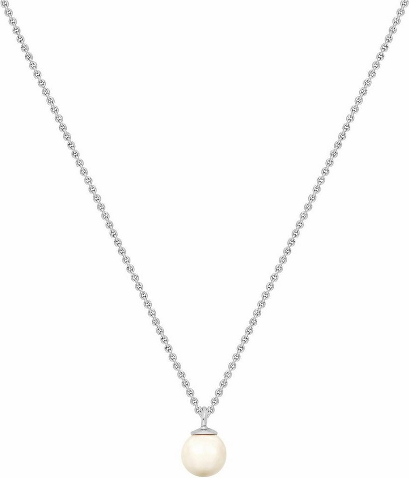 Lolaandgrace Kette mit Anhänger »OCEAN PENDANT, 5251996« mit Swarovski® Perle in silberfarben