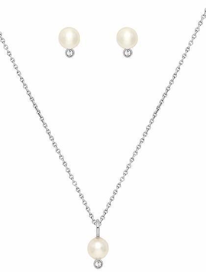 Lolaandgrace Schmuckset »OCEAN SET, 5251767« mit Swarovski® Perle in silberfarben-weiß