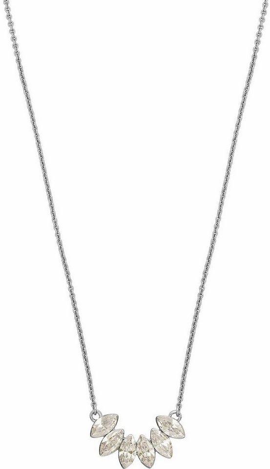 Lolaandgrace Collier »LEAF PENDANT, 5251742« mit Swarovski® Kristallen in silberfarben