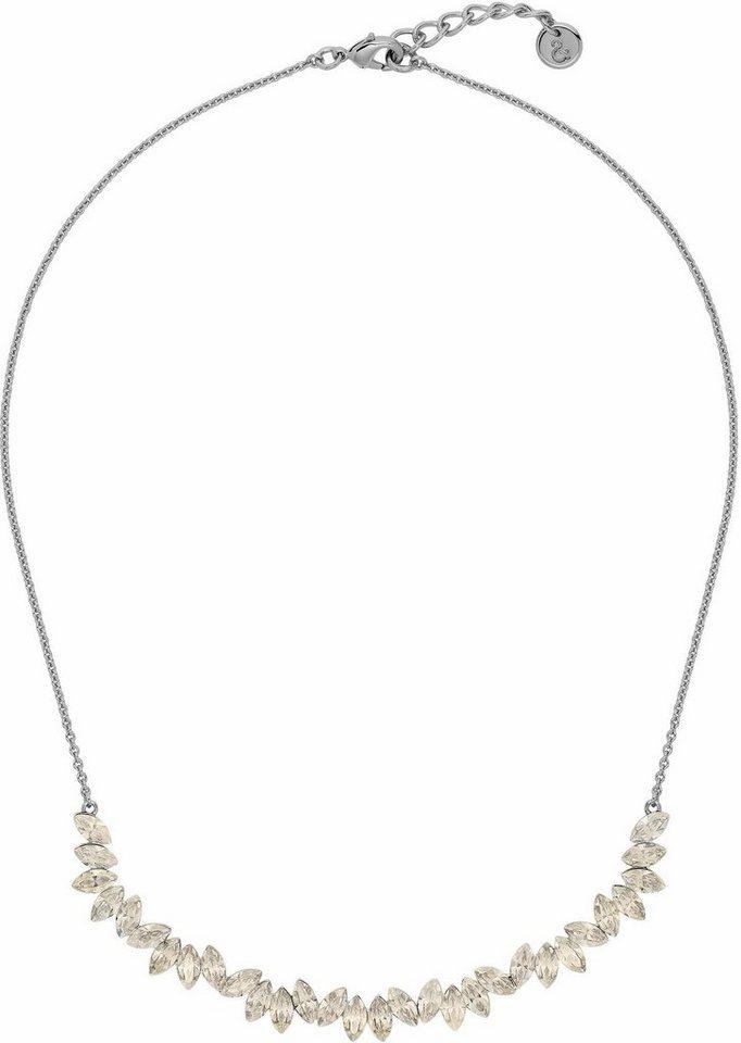 Lolaandgrace Collier »LEAF COLLIER, 5251741« mit Swarovski® Kristallen in silberfarben