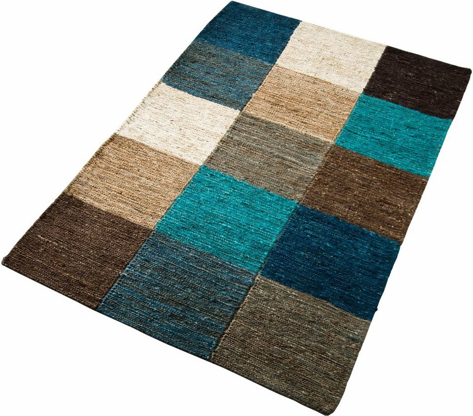 jute teppich home affaire collection check handgewebt. Black Bedroom Furniture Sets. Home Design Ideas