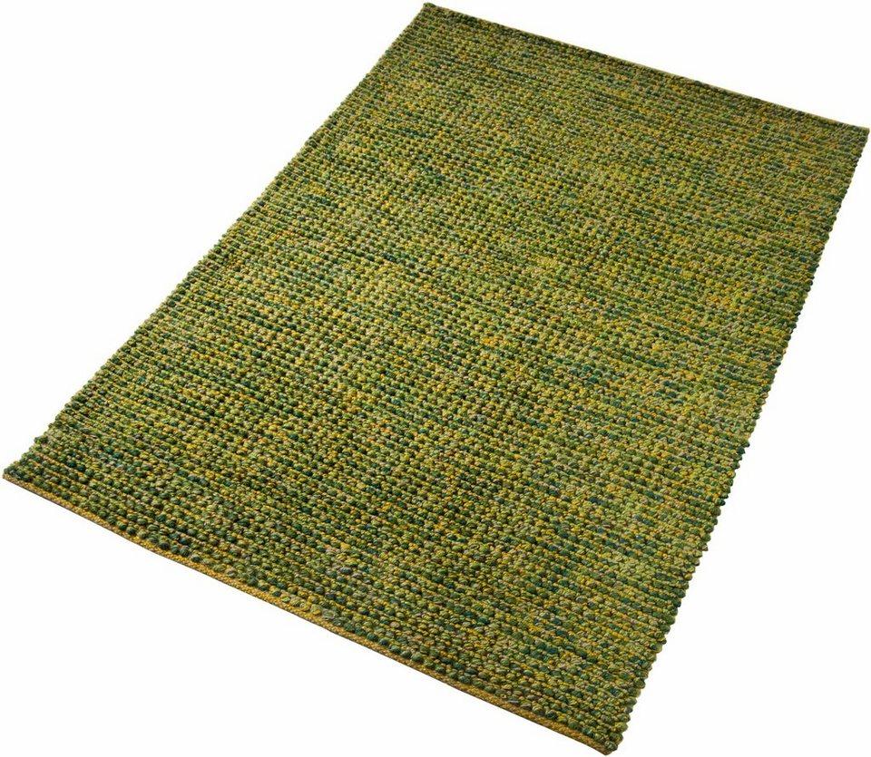 Jute-Teppich, Home affaire Collection, »Pebbles«, handgewebt in grün