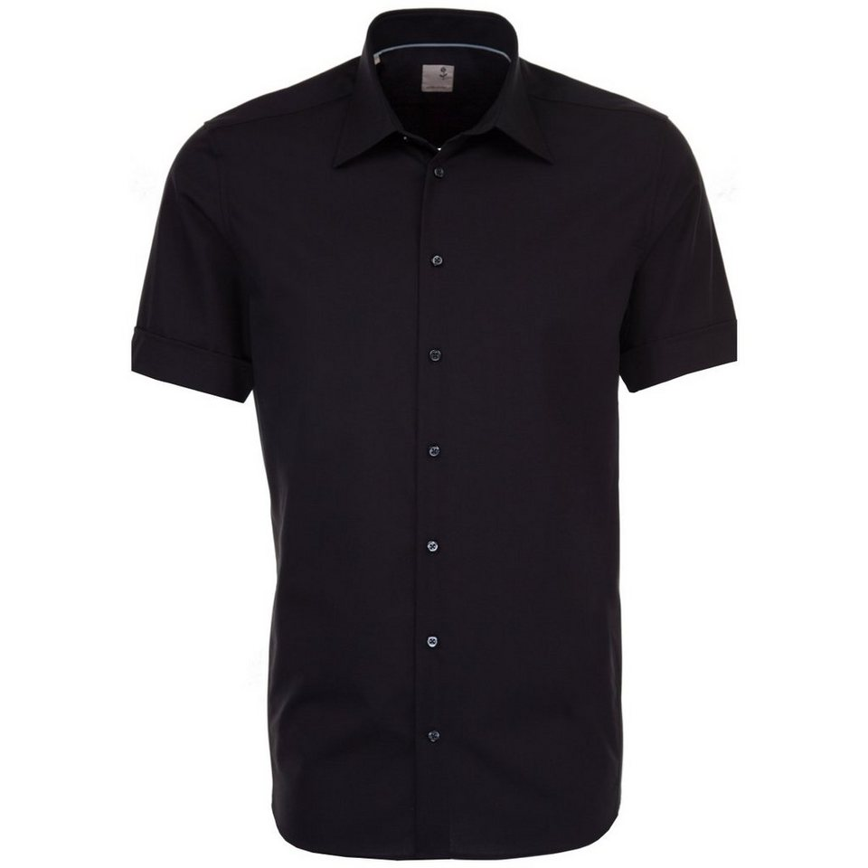 SEIDENSTICKER Businesshemd »Tailored« in schwarz-dunkellila