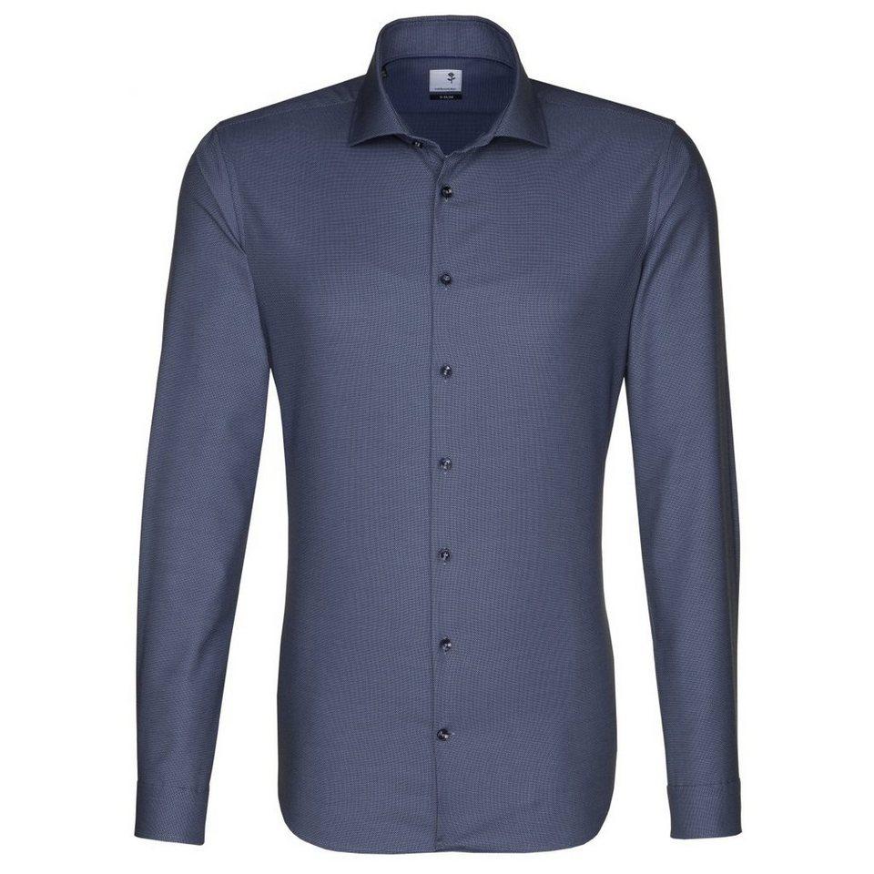 Seidensticker Businesshemd »Schwarze Rose« in dunkelblau