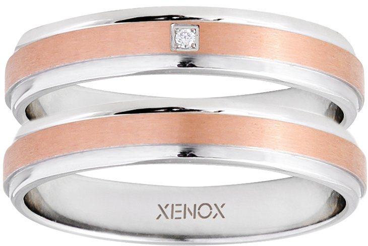 XENOX Partnerring »X2545, X2546« wahlweise mit oder ohne Zirkonia in silberfarben-roségoldfarben