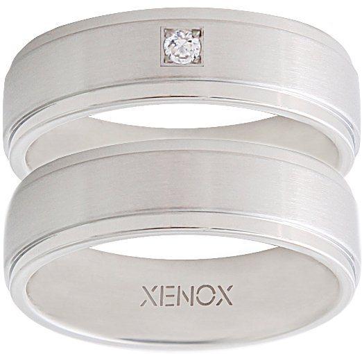 XENOX Partnerring »X2226, X2227« wahlweise mit oder ohne Zirkonia in silberfarben