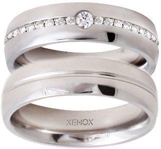 XENOX Partnerring »X2422, X2423« wahlweise mit oder ohne Zirkonia in silberfarben