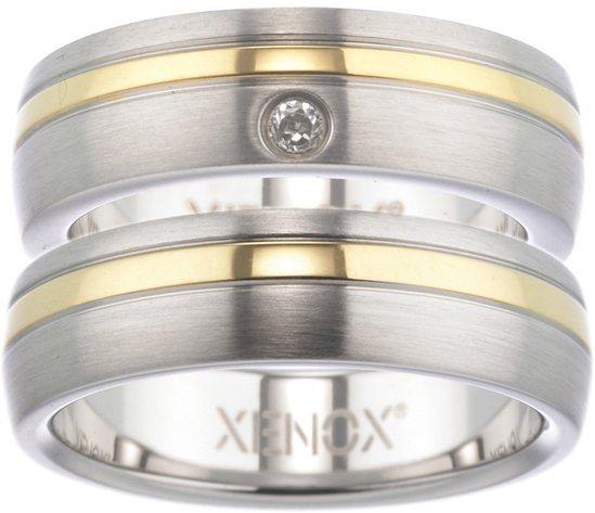 XENOX Partnerring »X1681, X1682« wahlweise mit oder ohne Zirkonia in silberfarben-goldfarben