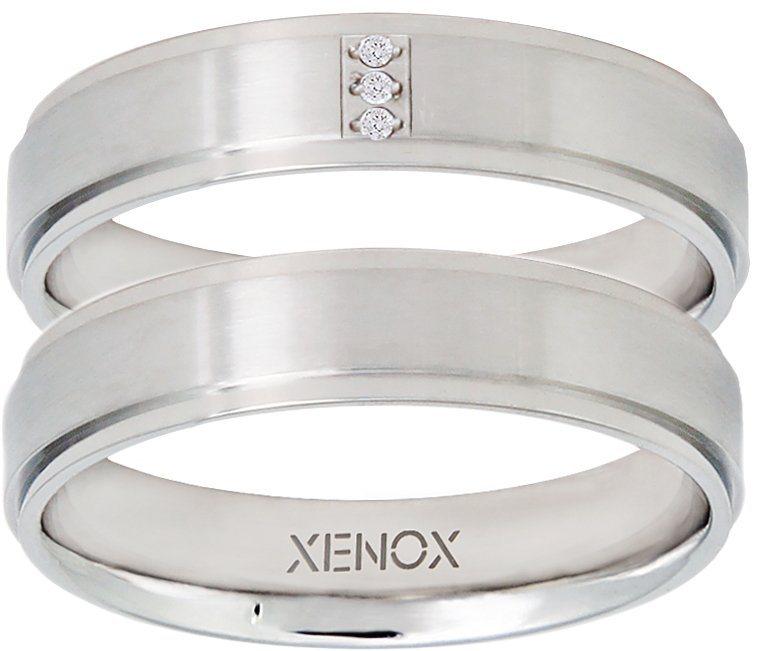 XENOX Partnerring »X2265, X2266« wahlweise mit oder ohne Zirkonia in silberfarben