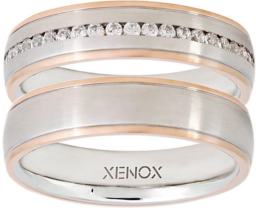 XENOX Partnerring »X2251, X2252« wahlweise mit oder ohne Zirkonia in silberfarben-roségoldfarben