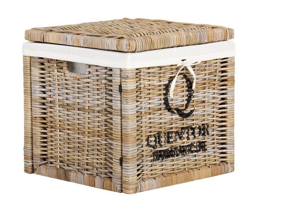 massivum Box aus Kubu-Rattan »Quenta« in grau