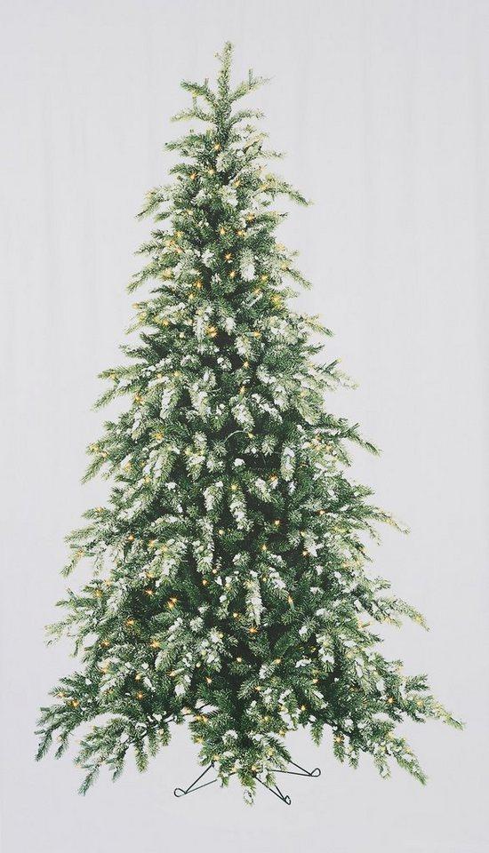 Vorhang my home tannenbaum mit stangendurchzug 1 for Weihnachtsbaum vorhang
