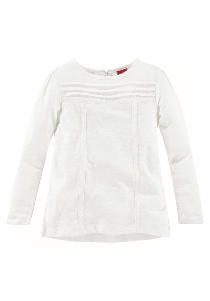 s.Oliver RED LABEL Junior Langarmshirt in offwhite