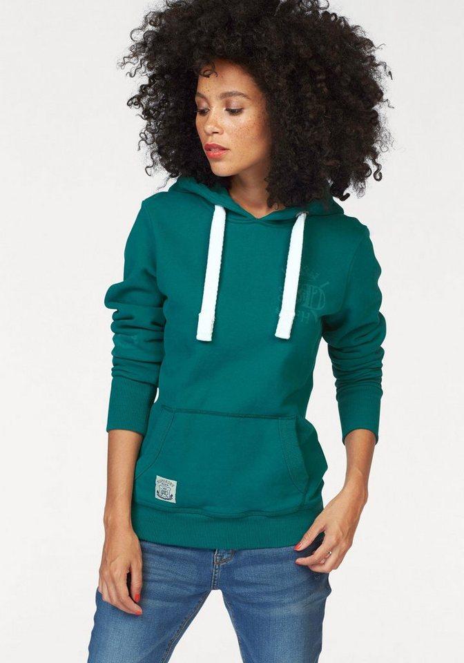 Superdry Sweatshirt »M.A. 1902 Hockey Hood« mit kleinem Logo Print in grün