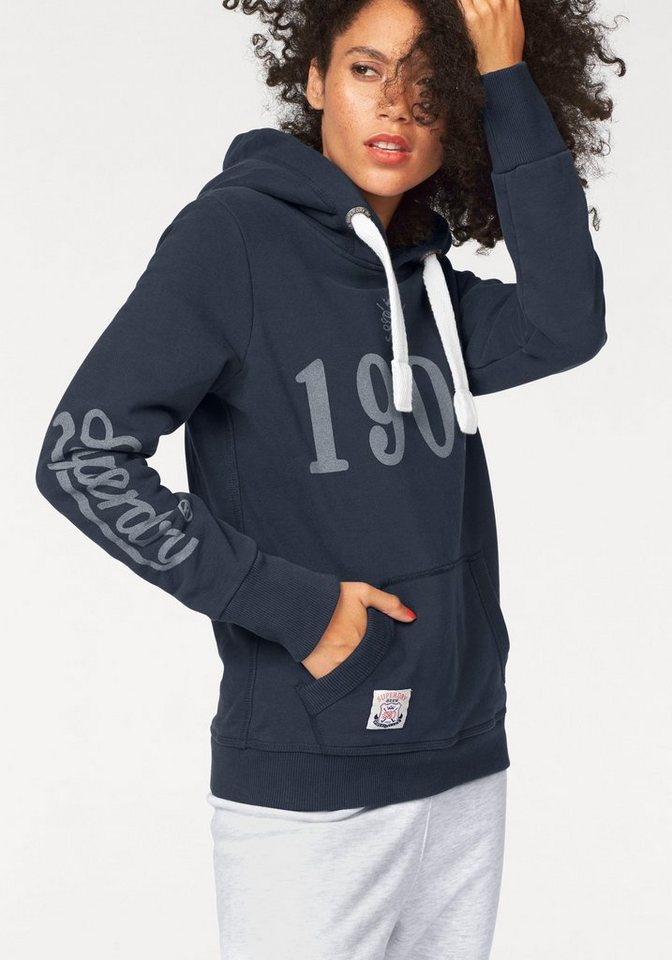 Superdry Kapuzensweatshirt »M.A. Field Hockey Hood« in marine