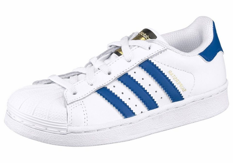 adidas Originals »Superstar Foundation« Sneaker Kinder in weiß-blau