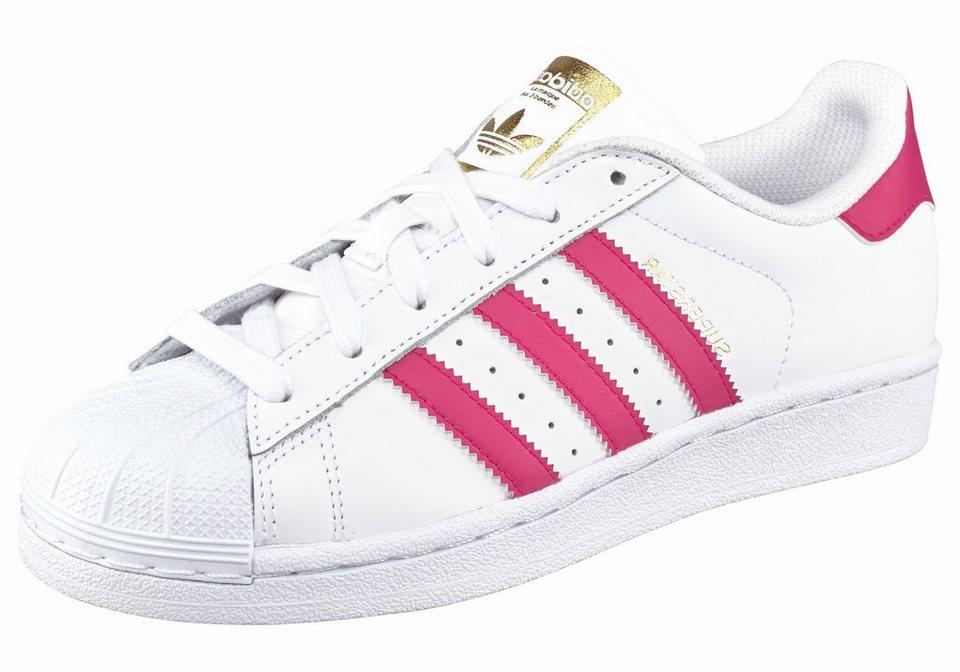 adidas Originals Superstar J Sneaker in Weiß-Pink