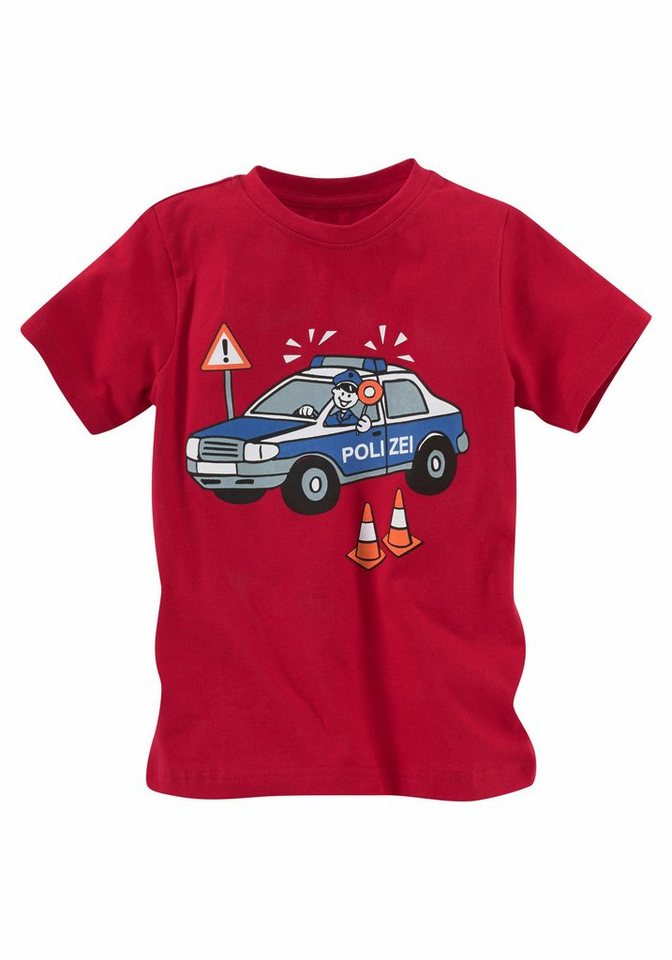 kidsworld t shirt mit druck polizei kaufen otto. Black Bedroom Furniture Sets. Home Design Ideas
