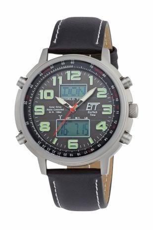 ETT Funkchronograph »EGS-11301-22L« in schwarz