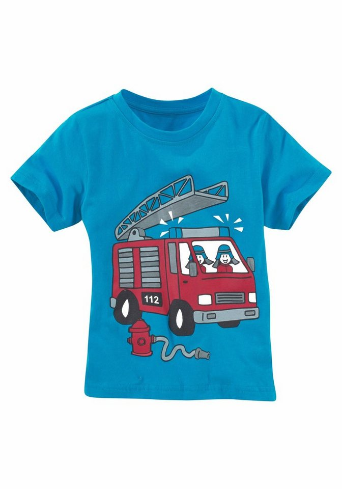 kidsworld t shirt mit druck feuerwehr kaufen otto. Black Bedroom Furniture Sets. Home Design Ideas