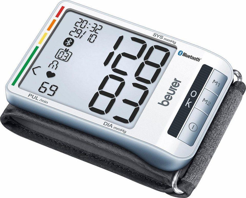 Beurer Handgelenk-Blutdruckmessgerät BC 85, Vernetzung zwischen Smartphone und Blutdruckmessgerät in grau