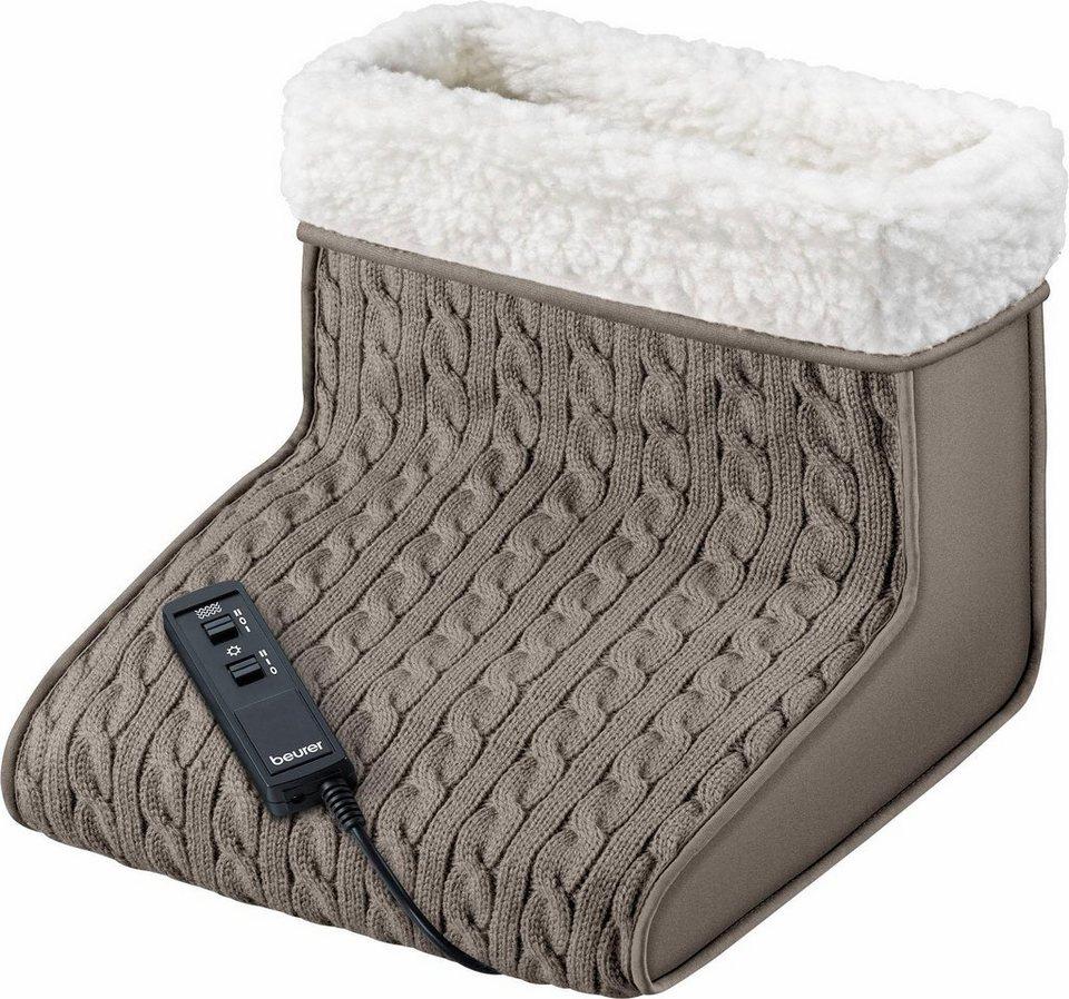Beurer Massagefußwärmer FWM 45, Wärme und Massage sind getrennt einsetzbar in taupe