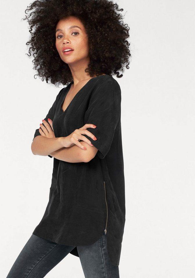 LTB Shirtbluse »Jacina« mit Reißverschlussdetails in schwarz