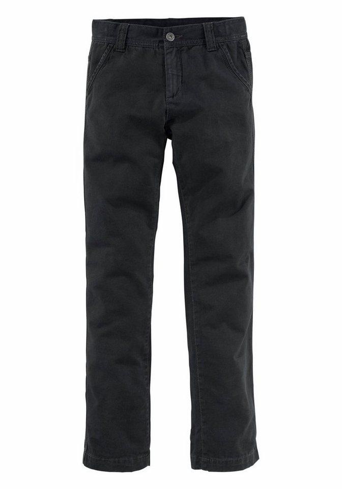 Arizona Chinohose Regular-fit mit geradem Bein in schwarz