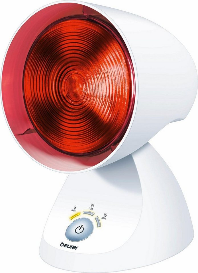 Beurer Infrarotlampe IL 35, Abschaltfunktion nach Ablauf der eingestellten Timer-Stufe in weiß