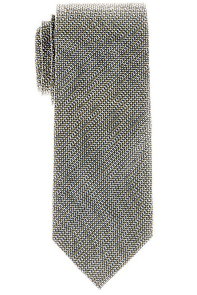 ETERNA Krawatte »breit« in gelb