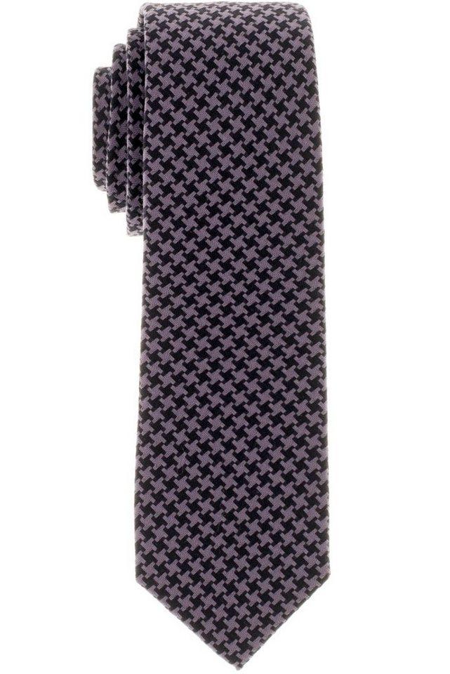 ETERNA Krawatte »schmal« in schwarz