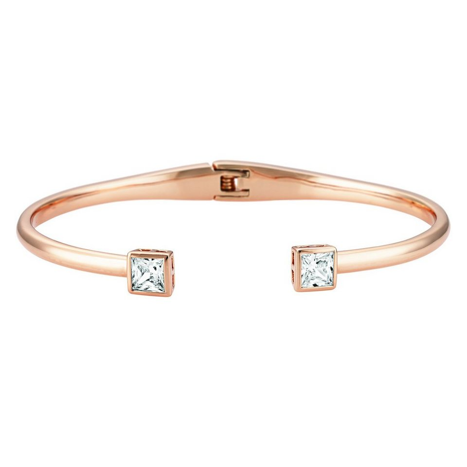 Buckley London Armschmuck »Messing rosévergoldet mit Zirkonia« in rosa