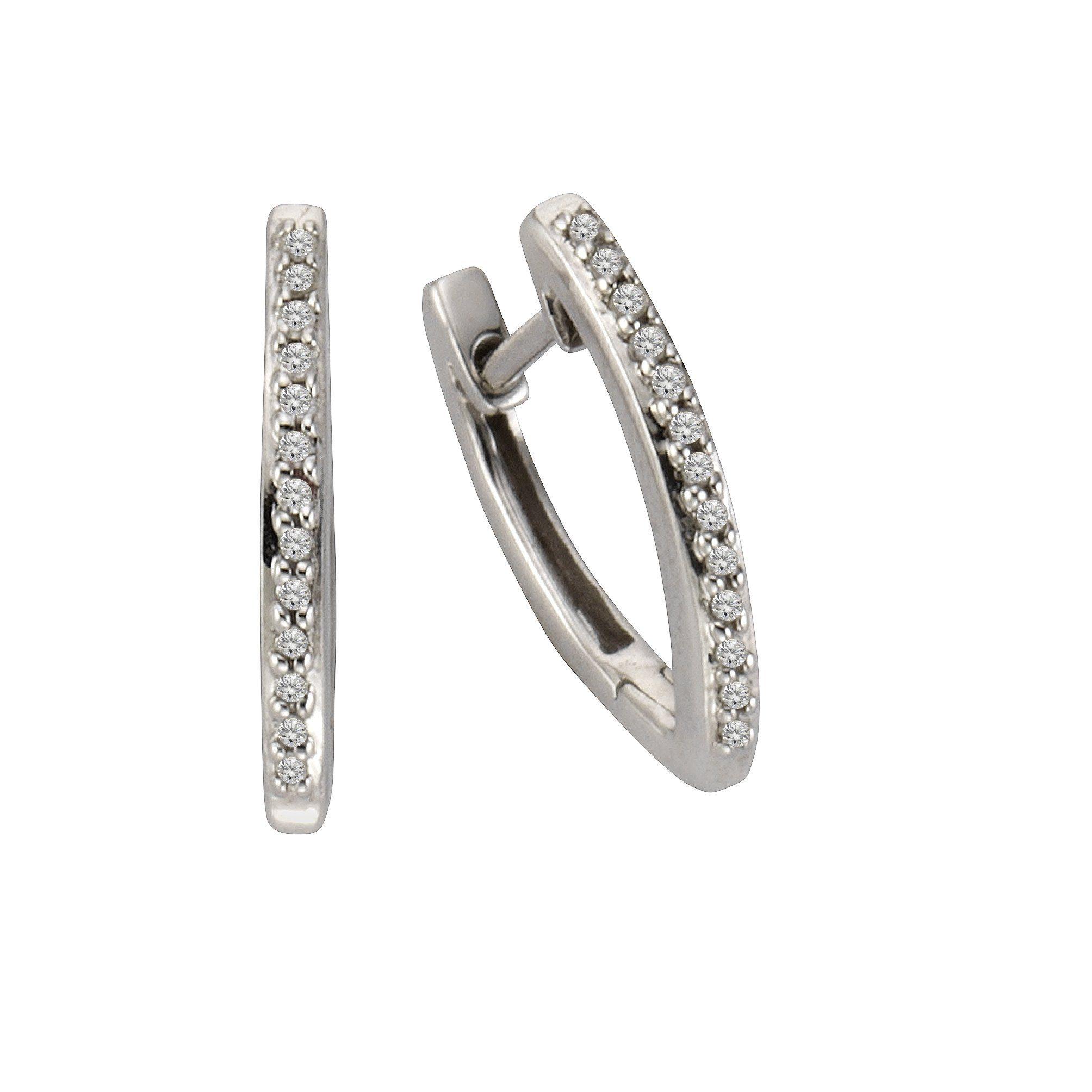 CELESTA Creolen »925/- Silber 26x Diamant«