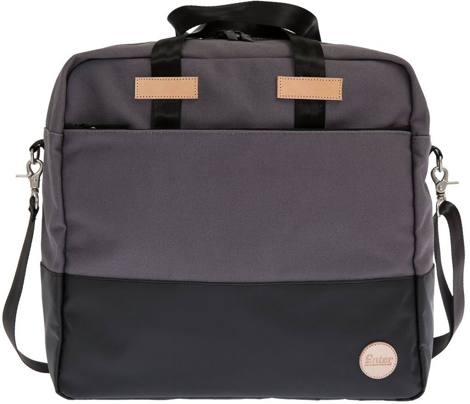 Enter Aktentasche, »Research All Day Zip Tote« in grau/schwarz