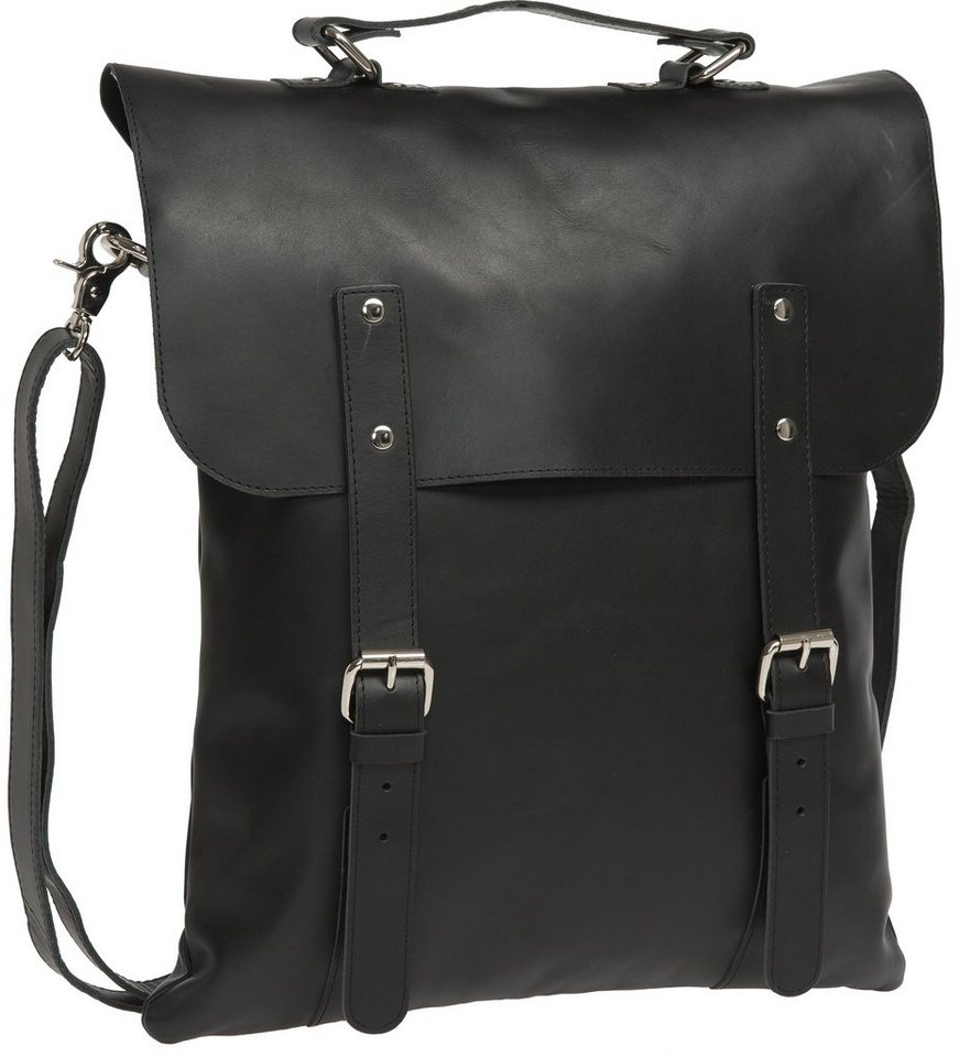 Enter Rucksack, »Messenger Tote, Black Leather« in schwarz