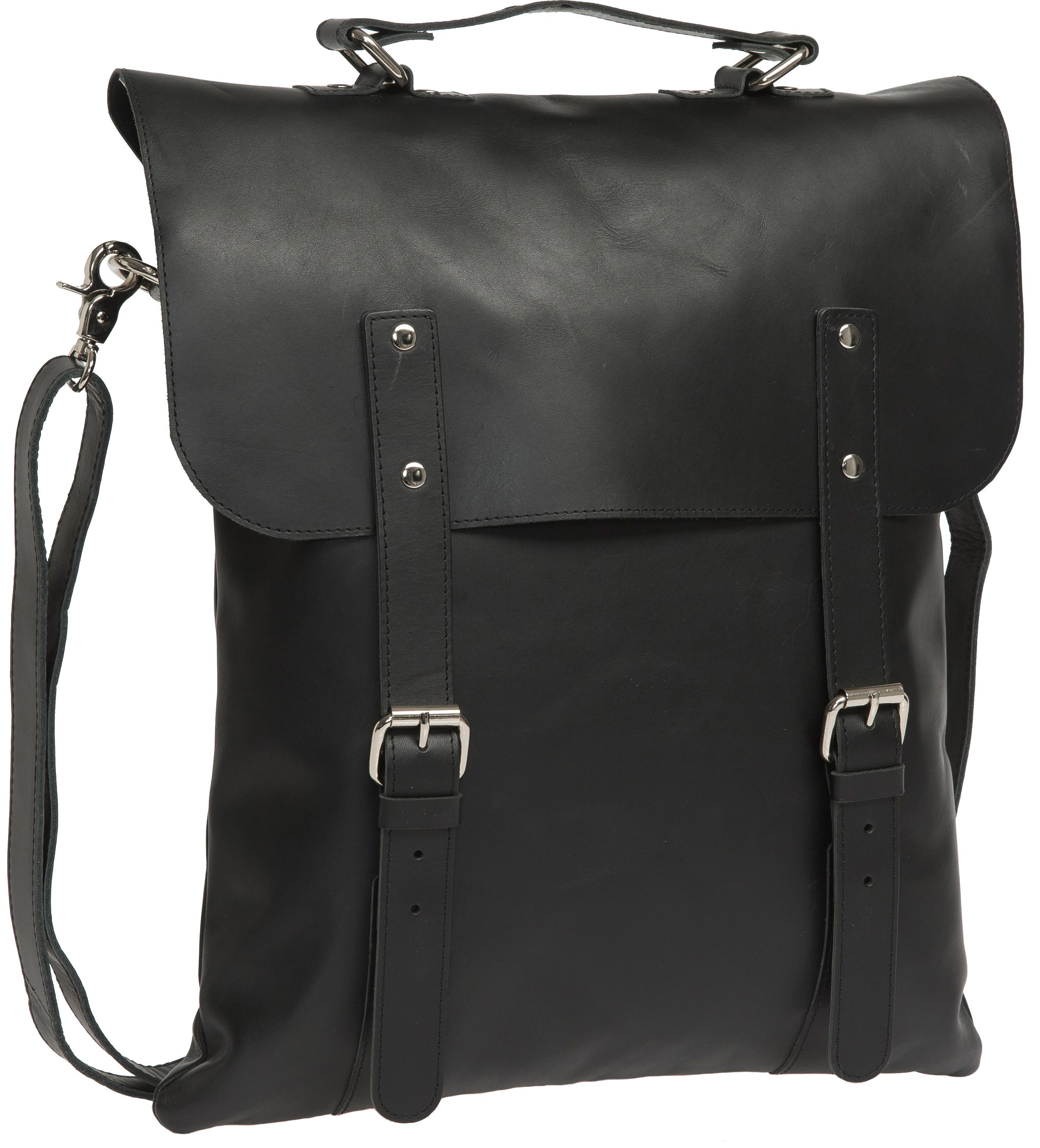 Enter Rucksack, »Messenger Tote, Black Leather«
