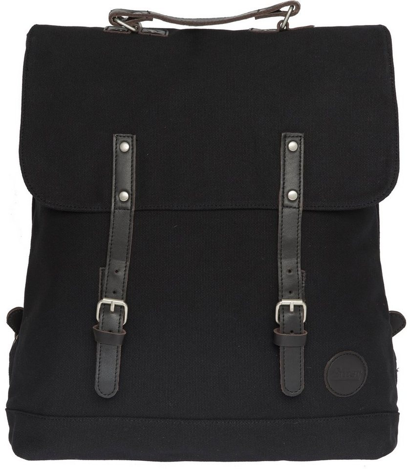 Enter Rucksack, »Backpack, Black/Dark Brown Leather« in schwarz/dunkelbraun