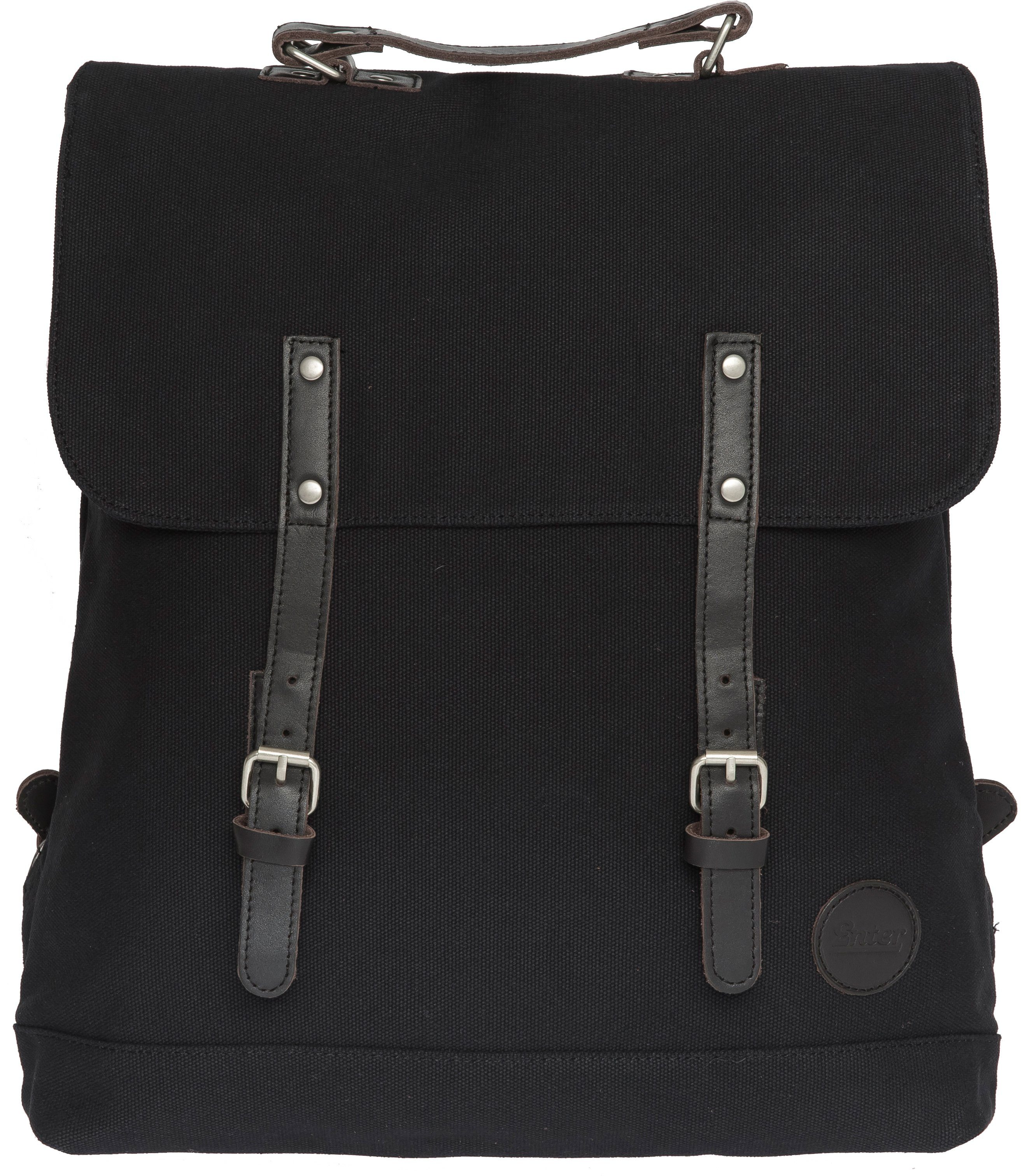Enter Rucksack, »Backpack, Black/Dark Brown Leather«