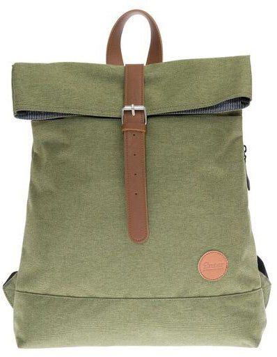 Enter Rucksack, »Fold Top Backpack, Melange Green« in melange grün