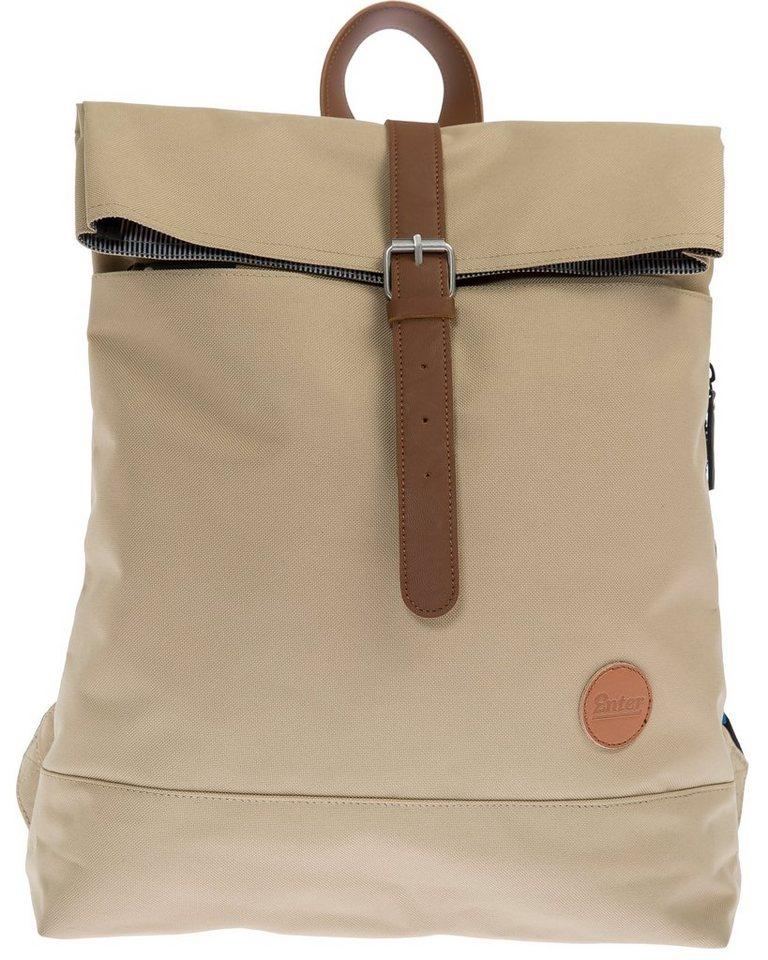 Enter Rucksack, »Fold Top Backpack, Khaki« in khaki