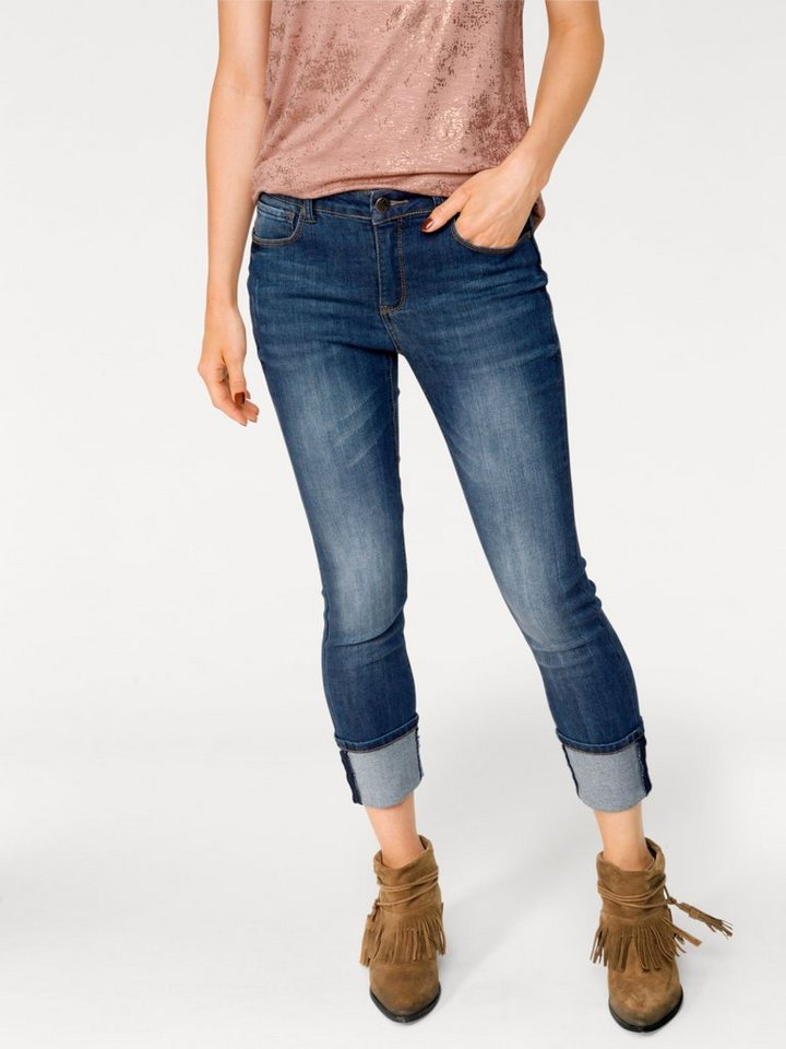 ASHLEY BROOKE by Heine Bodyform-7/8-Jeans mit Bauch-weg-Funktion in blue denim