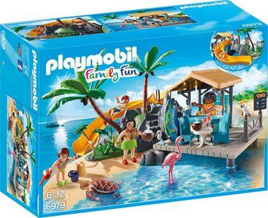 Playmobil® Konstruktionsspielsteine »Karibikinsel mit Strandbar (6979), Family Fun«