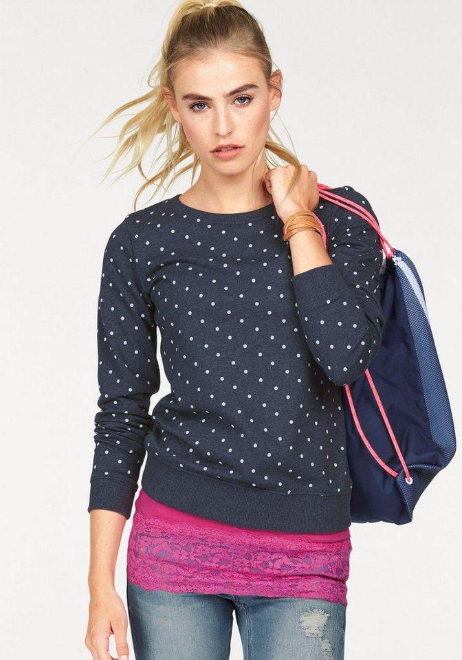 AJC Sweatshirt mit Pünktchen in blau-gepunktet