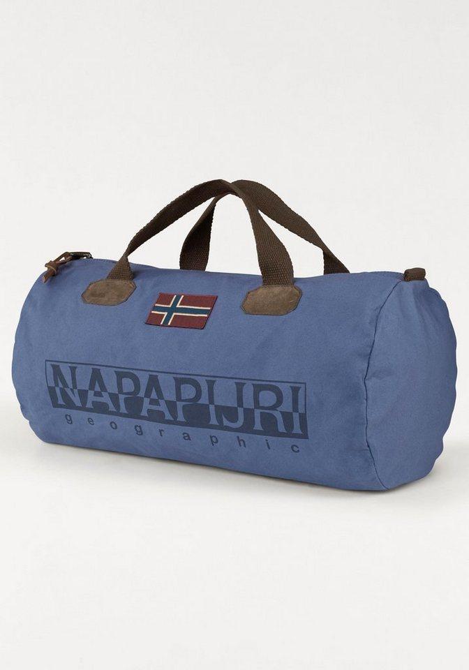 Napapijri Sporttasche »Bering Small« mit coolem Logoprint in blau