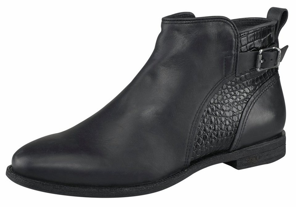 UGG »Demi Croc« Chelseaboots mit Croco-Optik-Details in schwarz
